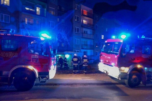 Pożar w piwnicy bloku na Starzyńskiego