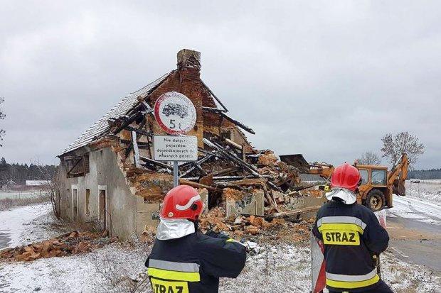 Dom zawalił się w Patoce