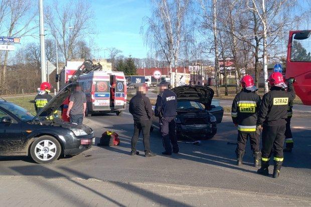 Wypadek na skrzyżowaniu Wróblewskiego i Dolnych Młynów