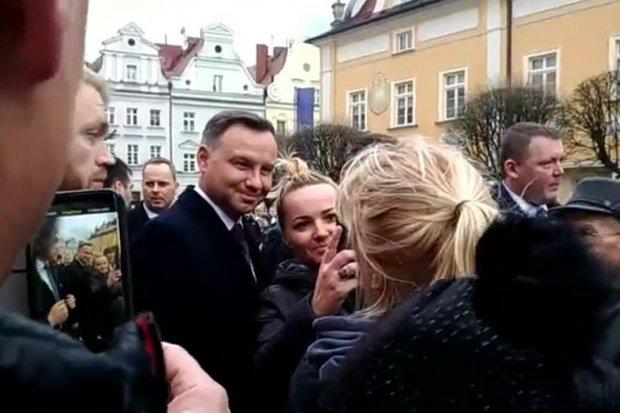 Prezydent Andrzej Duda na bolesławieckim Rynku