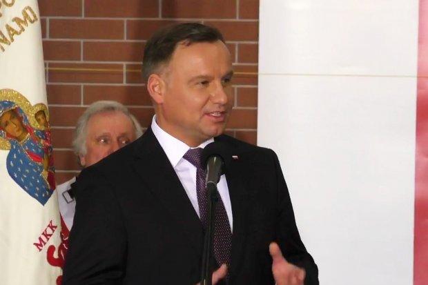 """Prezydent Andrzej Duda w hali """"jedynki"""". Zobacz relację wideo"""