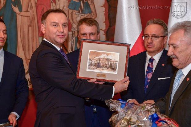 Andrzej Duda spotkał się w ratuszu z lokalnymi politykami