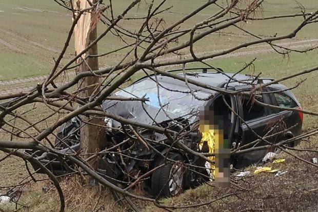 Śmiertelny wypadek koło Brzeźnika. 42-latek zginął na miejscu