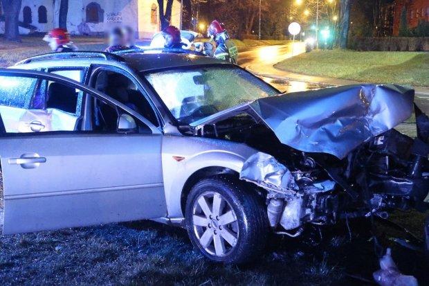 Zderzenie dwóch aut na Podgórnej