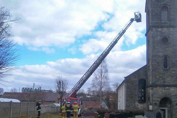 Strażackie ćwiczenia w… kościele