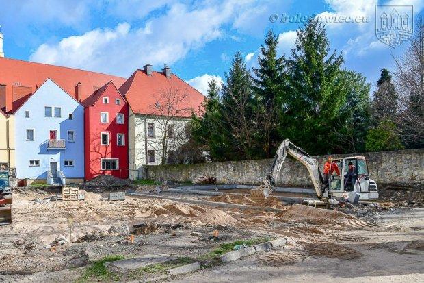 Trwa przebudowa zaplecza przy ul. Kościelnej
