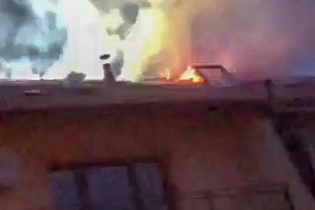 Pożar w domu szeregowym przy ul. Różanej