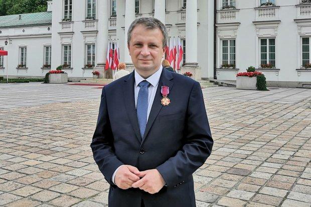 Starosta Tomasz Gabrysiak doceniony przez prezydenta Andrzeja Dudę