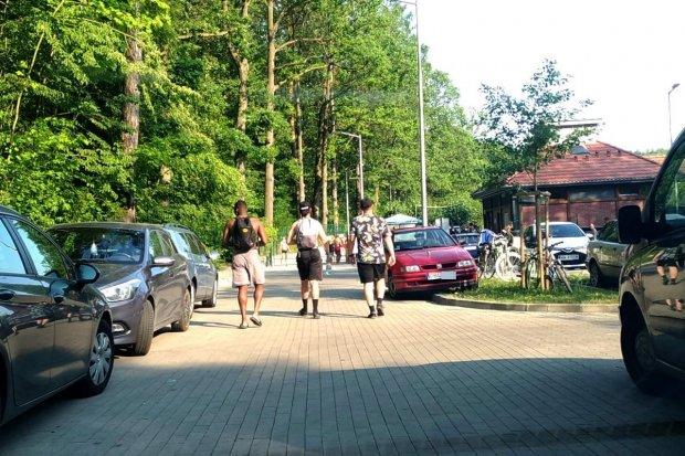 Leśny Potok: ludzie parkują gdzie popadnie, oby nie doszło do tragedii
