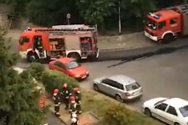 Poranna akcja straży pożarnej przy Kilińskiego