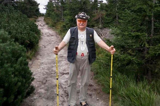 Lech Wałęsa na wakacjach w Świeradowie Zdroju