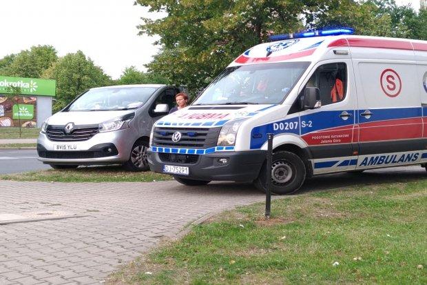 Jedna osoba ranna w kolizji na Tysiąclecia