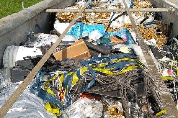 Transport 20 ton śmieci z Niemiec zablokowany
