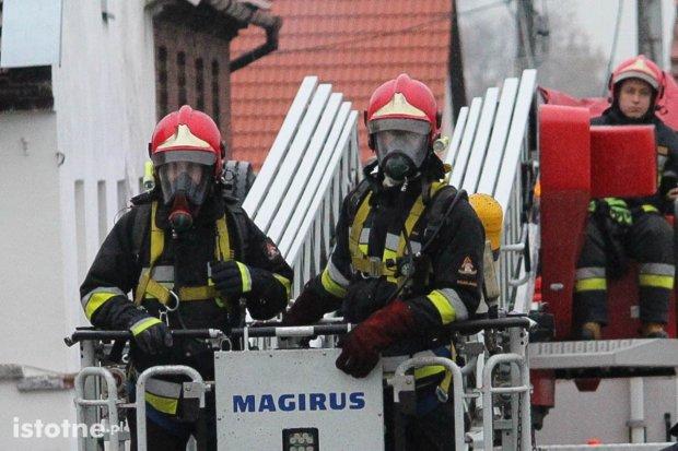 Akcja straży pożarnej w Kruszynie