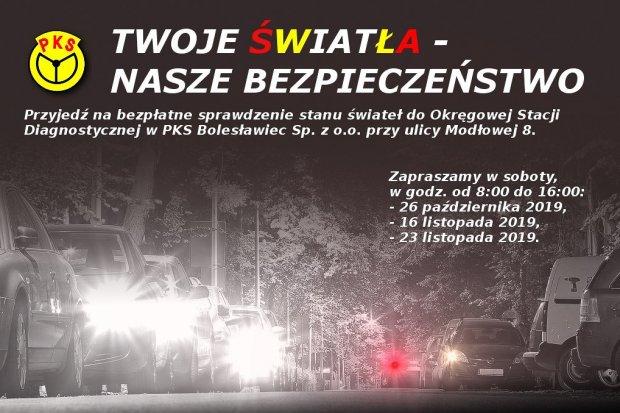 """Ostatnia szansa na udział w akcji """"Twoje światła – nasze bezpieczeństwo""""!"""