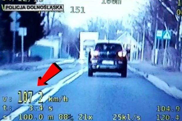 57-latek zatrzymany przez SPEED. Zasuwał 107 km/h w Trzebieniu