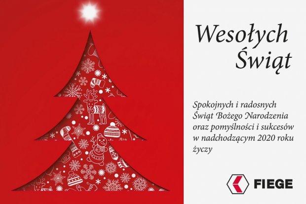 FIEGE Sp. zo.o. życzy mieszkańcom powiatu zdrowych, pogodnych Świąt Bożego Narodzenia i szczęśliwego Nowego Roku