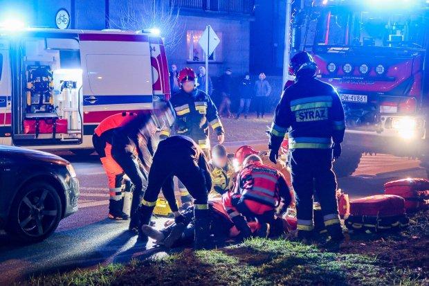 Tragiczne potrącenie pieszego na Tysiąclecia. 61-latek jest w krytycznym stanie