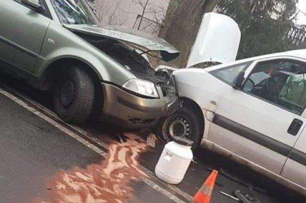 Dwa auta zderzyły się w Kraszowicach