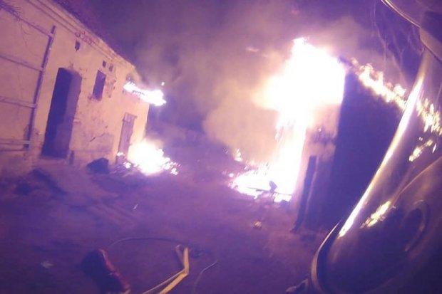 Pożar stodoły w Trzebieniu