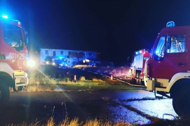 Duży pożar w Ławszowej