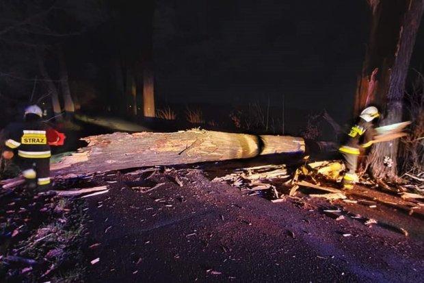 Orkan Sabina: nocne akcje straży