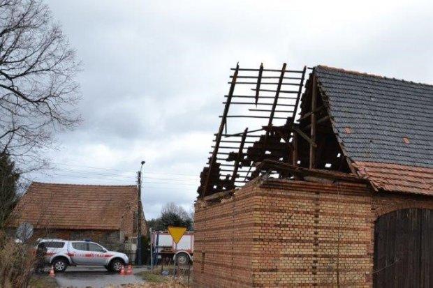 Orkan Sabina: 43 zdarzenia, 7 budynków mieszkalnych uszkodzonych