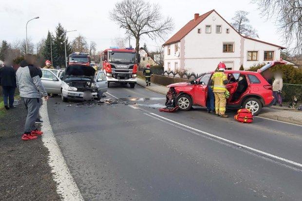 Czołówka w Kruszynie. Cztery osoby ranne