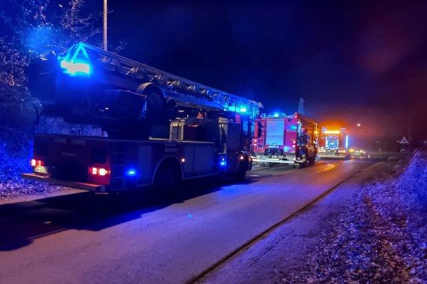 Pożar stolarni w Bolesławicach