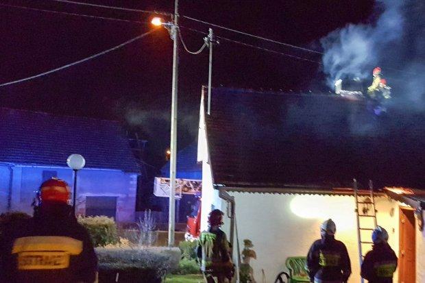 Pożar w Krzyżowej