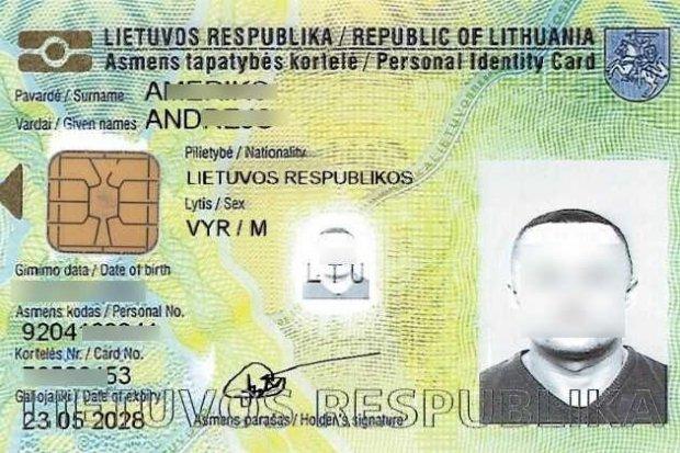 Ukrainiec wpadł z… podrobionym litewskim dowodem
