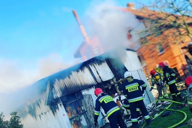 Pożar w Gierałtowie