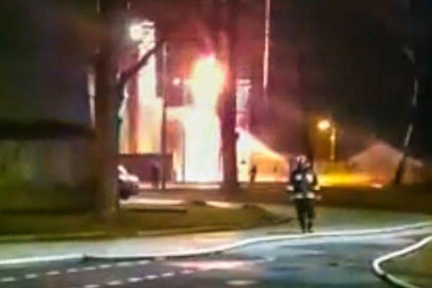 Poważny pożar gazu w Świętoszowie, ewakuowano ludzi