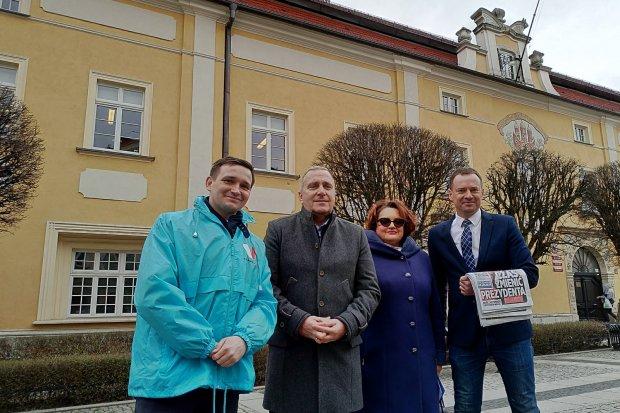 Kidawa 2020: Grzegorz Schetyna, Piotr Borys i Michał Jaros w Bolesławcu