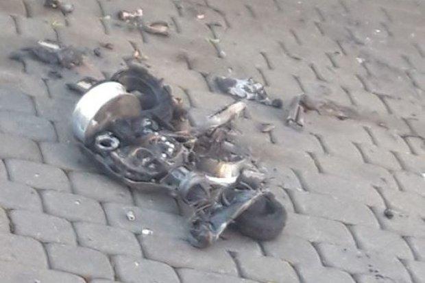 Zostali zadysponowani do pożaru budynku, paliła się… deskorolka