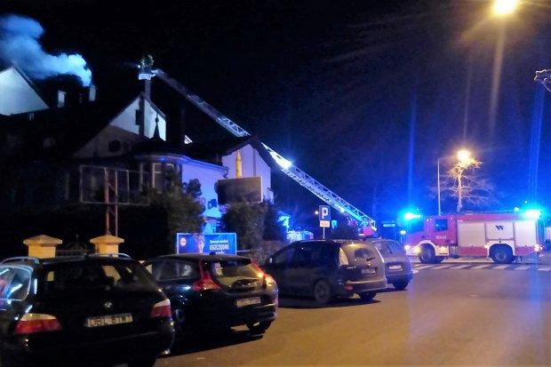 Pożar na Ogrodowej w Bolesławcu