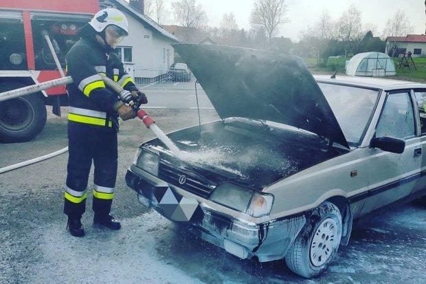 Pożar poloneza w Zebrzydowej