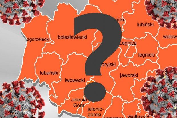 Mapa zakażeń koronawirusem w powiatach i miastach Dolnego Śląska