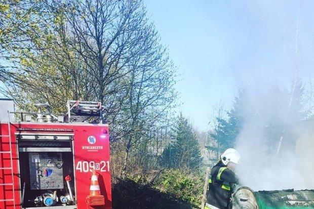 Akcja straży w Wielkanoc. Pożar na Słowackiego