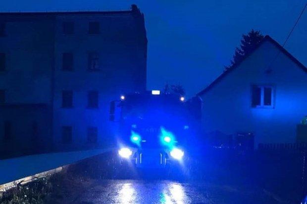 Wieczorna akcja straży w Kraśniku. Zawalił się dach