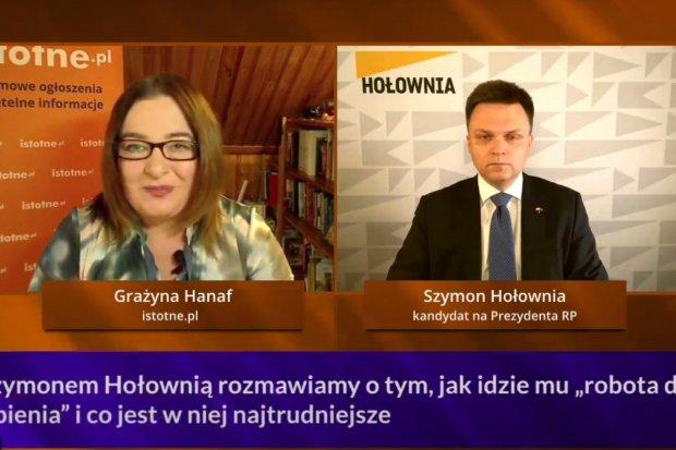 NA ŻYWO: Szymon Hołownia, kandydat na prezydenta RP