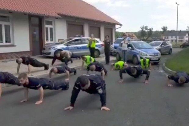 Policjanci z Kruszyna i Warty pompują dla Zosi