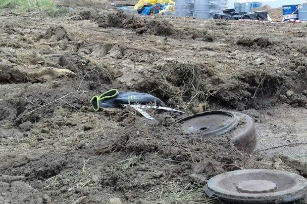 Czechosłowacka mina przeciwczołgowa na Zabobrzu