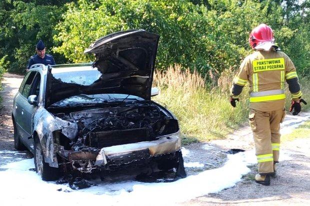 Pożar samochodu Audi przy Kościuszki