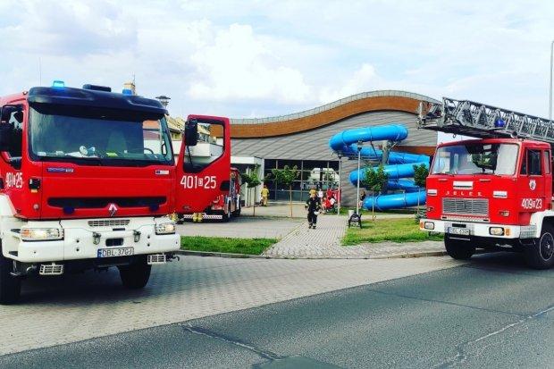 Pożar sauny na basenie w Osiecznicy