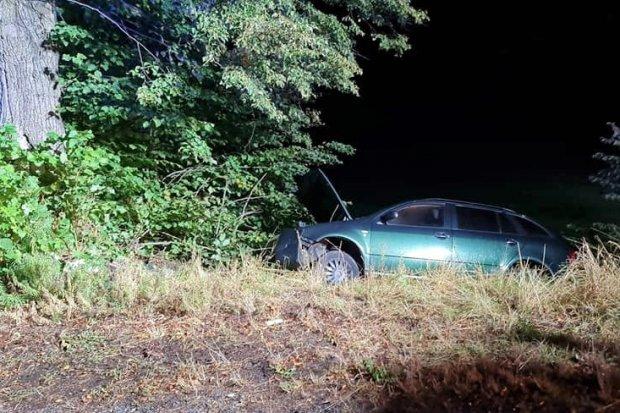 33-latek po pijaku wjechał w drzewo. Pasażerowie trafili do szpitala