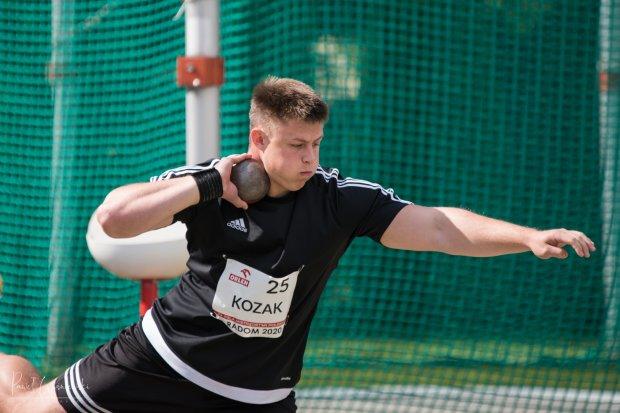 Udany występ lekkoatletów na Mistrzostwach Polski Juniorów, Gracjan Kozak z 2 medalami