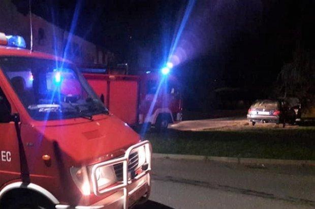 Wieczorna akcja straży pożarnej przy Asnyka