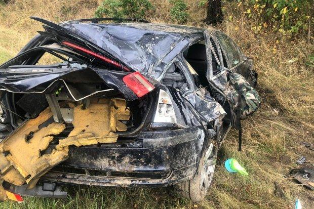 Auto dachowało między Zebrzydową a Czerną