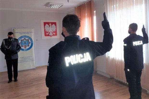 Nowi policjanci w bolesławieckiej komendzie